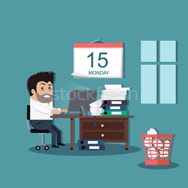 Termenul limita proiect interior om calendar timp Imagine de stoc © robuart
