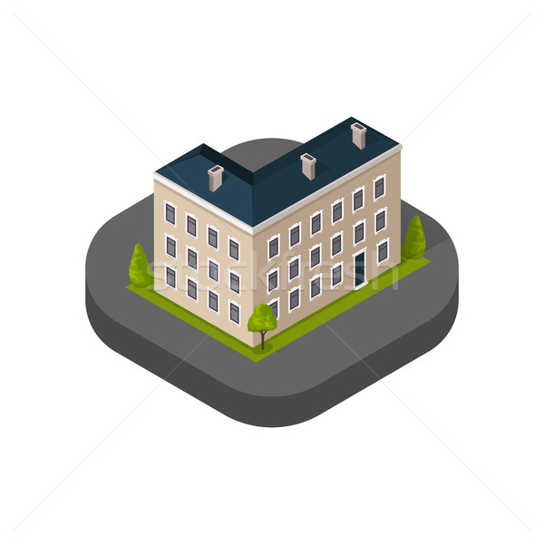 Skyscrapers House Building Icon Stock photo © robuart