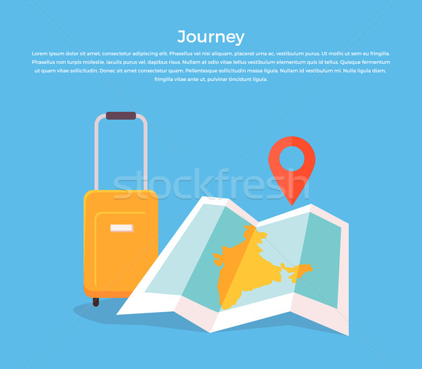 Journey Concept Luggage and Map Stock photo © robuart