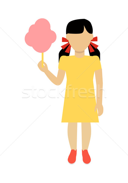 Stock photo: Girl Character Template Vector Illustration.