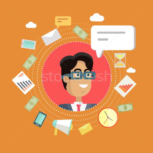 Creative Office Background Stock photo © robuart
