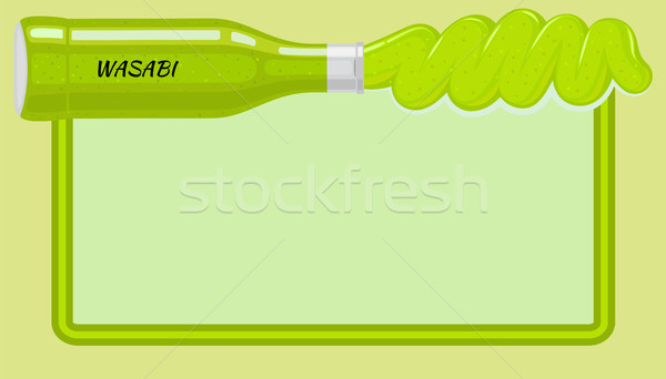 Habanero Sauce Framed Vector Banner with Copyspace Stock photo © robuart