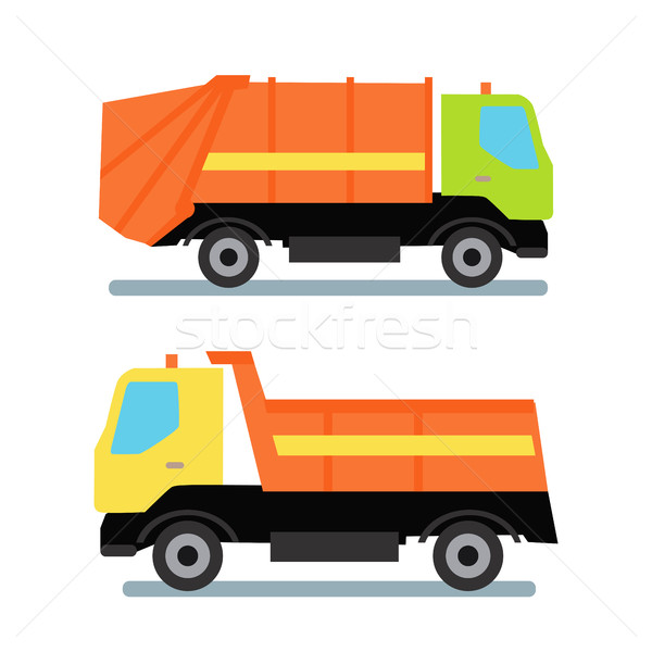 Two Orange Truck Stock photo © robuart