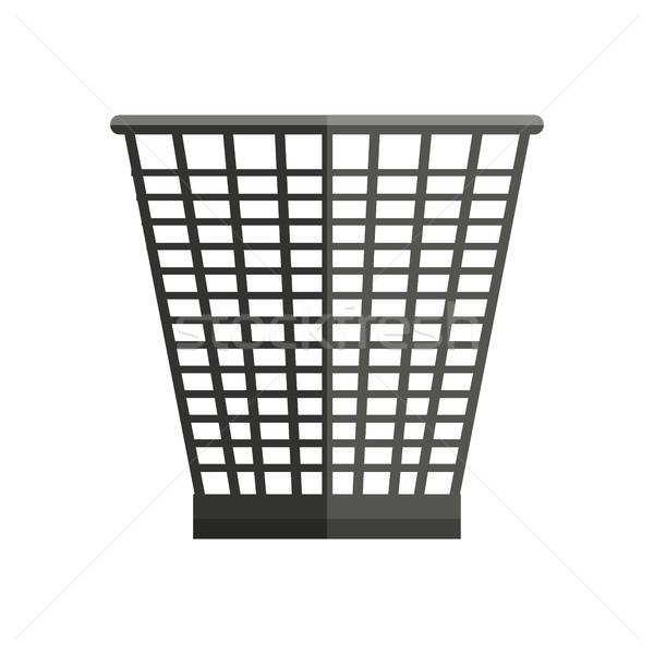 Trash Basket Vector Illustration in Flat Style Design  Web Stock photo © robuart