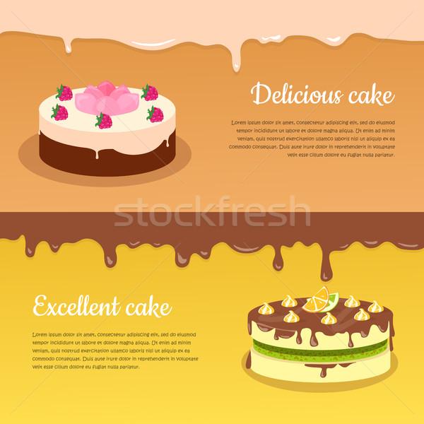 優れた ケーキ ベクトル バナー フルーツ ストックフォト © robuart