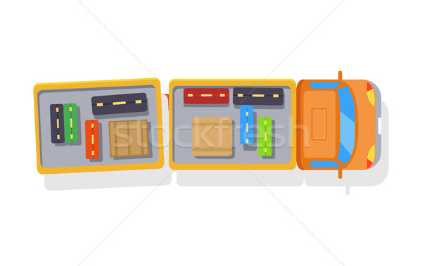 Baggage Truck Isolated Icon on White Background Stock photo © robuart