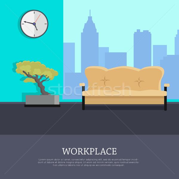 ストックフォト: 職場 · ベクトル · スタイル · デザイン · オフィス · ルーム
