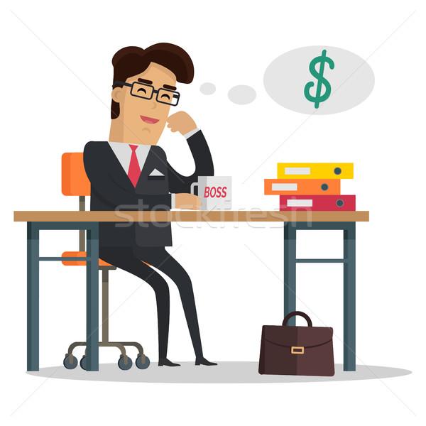 Man Thinking About Money Stock photo © robuart