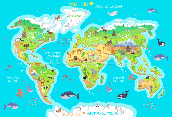 Animals and Where They Live. Our Planet. Earth. Stock photo © robuart