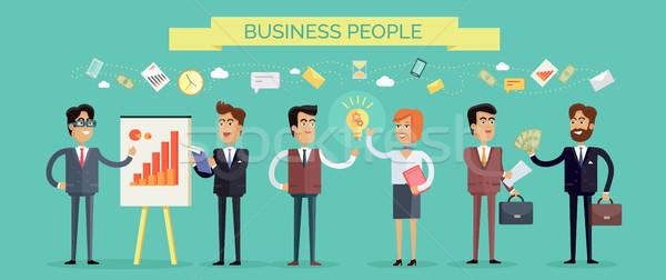 Gente de negocios social trabajo en equipo conceptos negocios estratégico Foto stock © robuart