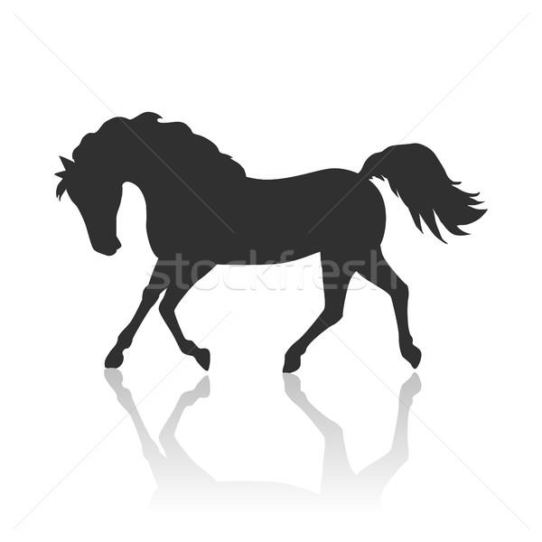 馬 デザイン を実行して 黒 スタイル ベクトル ストックフォト © robuart