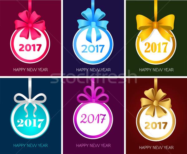Сток-фото: с · Новым · годом · Рождества · игрушку · набор · вектора