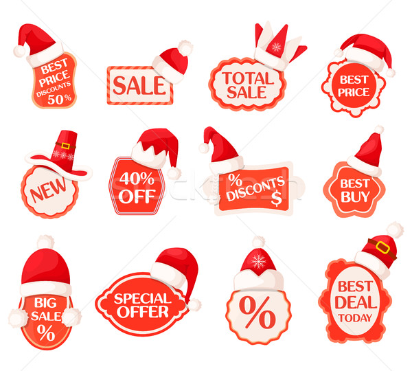 Sale and Discounts Labels with Percents Collection Stock photo © robuart