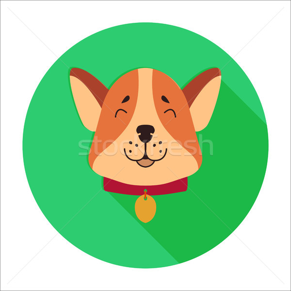 Cute perro hocico Cartoon vector icono Foto stock © robuart