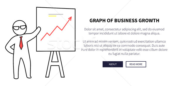 Graph of Business Growth on Vector Illustration Stock photo © robuart