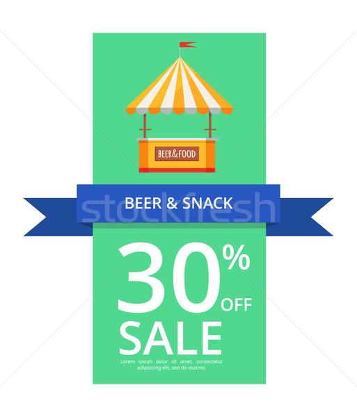 Bière casse-croûte 30 vente bleu Photo stock © robuart