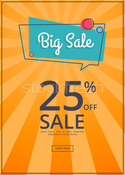 Big Sale Poster with 25 Percent Discount off Stock photo © robuart