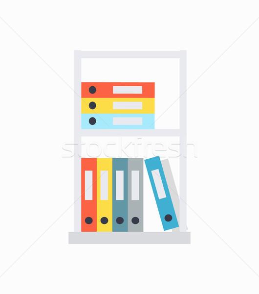 Documento diverso colori organizzato informazioni Foto d'archivio © robuart