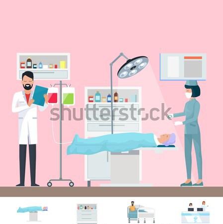 Smiling Nurse in Uniform on Vector Illustration Stock photo © robuart