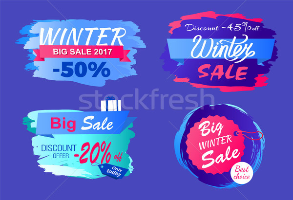 Inverno grande vendita metà prezzo sconto Foto d'archivio © robuart