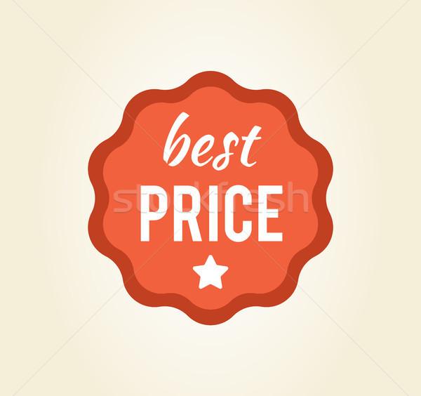 Legjobb ár körkörös matrica csillag főcím írott Stock fotó © robuart