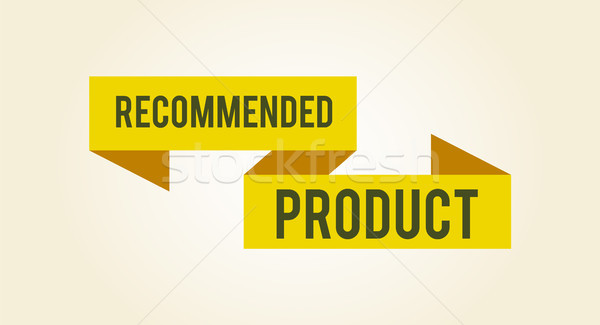 Recommended Product Sticker Vector Illustration Stock photo © robuart