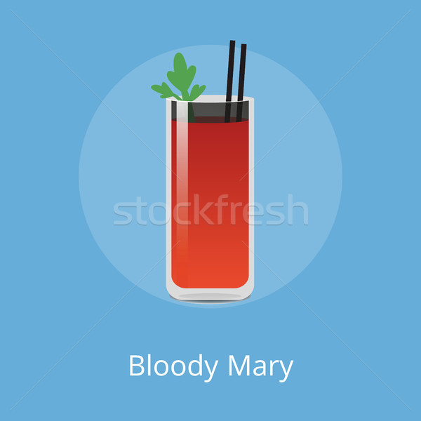Blood Mary Cocktail Colorful Vector Illustration Stock photo © robuart
