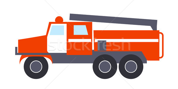 Fire engine with Ladder Isolated Illustration Stock photo © robuart
