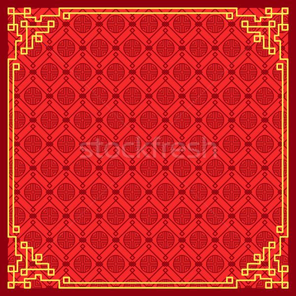 Minta kínai új év kínai boldog új évet hagyományos színek Stock fotó © robuart