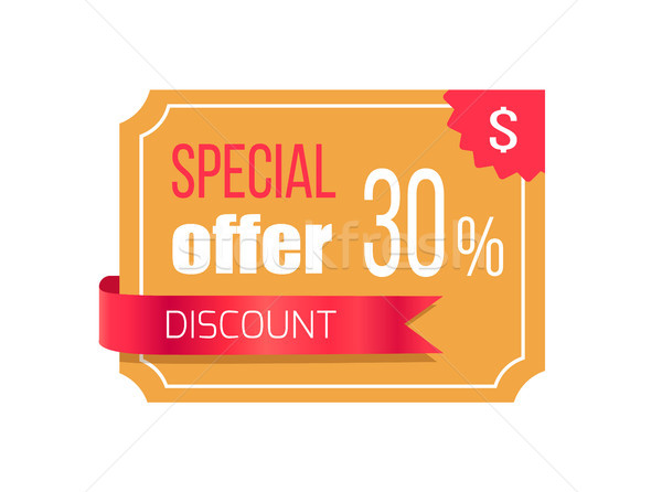Special Offer Discount Banner Vector Illustration Stock photo © robuart
