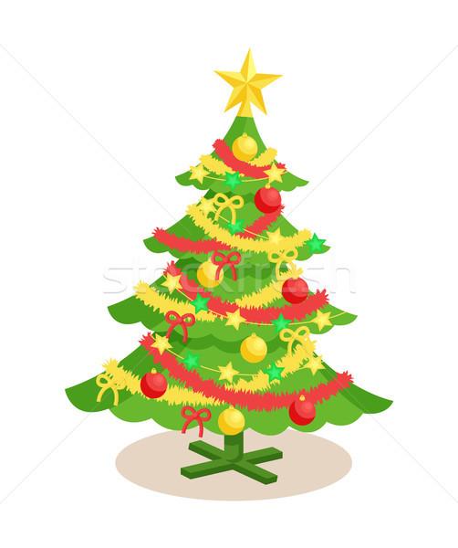 Decorado natal enfeitar ano novo árvore Foto stock © robuart