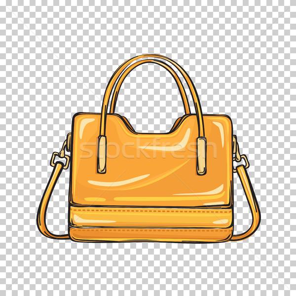 トレンディー オレンジ 袋 孤立した 実例 ストックフォト © robuart