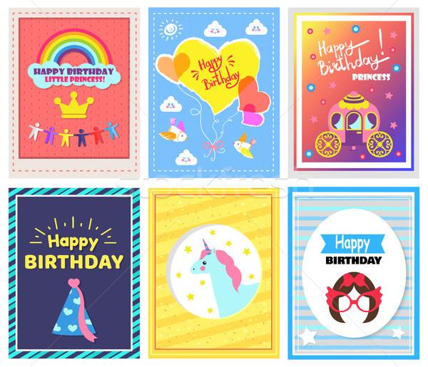 Happy Birthday Collection Vector Illustration Stock photo © robuart