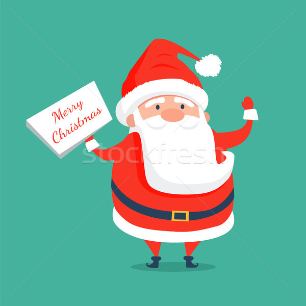 Merry Christmas Congratulation from Santa Claus Stock photo © robuart