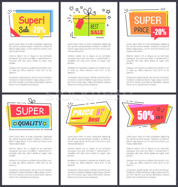 Super Sale -20 and Quality Vector Illustration Stock photo © robuart