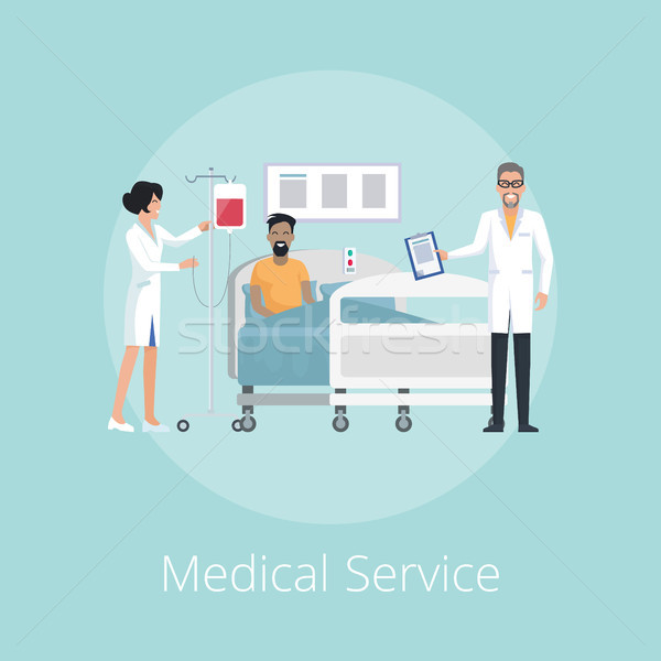 Medical Service Nurse and Doc Vector Illustration Stock photo © robuart