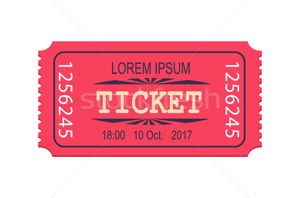 Pink Ticket Entry Admission Vector Icon Coupon Stock photo © robuart