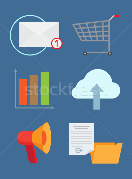 Set of Technology Icons Color Vector Illustration Stock photo © robuart