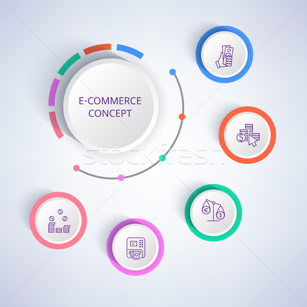 E-commerce Colorful Banner Vector Illustration Stock photo © robuart