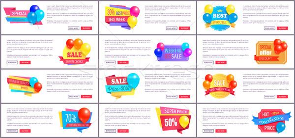 Specjalny zniżka weekend sprzedaży najlepszy balony Zdjęcia stock © robuart