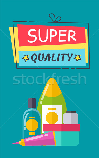 Super Quality Poster and Title Vector Illustration Stock photo © robuart
