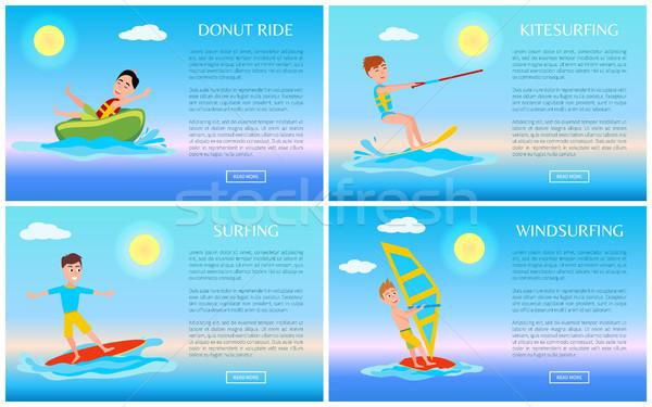Rosquinha surfe esportes ativo bandeira Foto stock © robuart