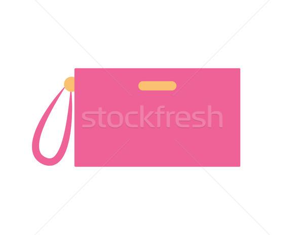 Torebka różowy kolor pozycja pasek kobiet Zdjęcia stock © robuart