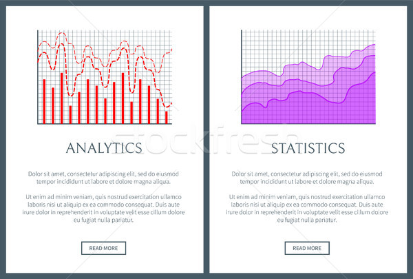 Analytics and Statistics Visual Representation Set Stock photo © robuart