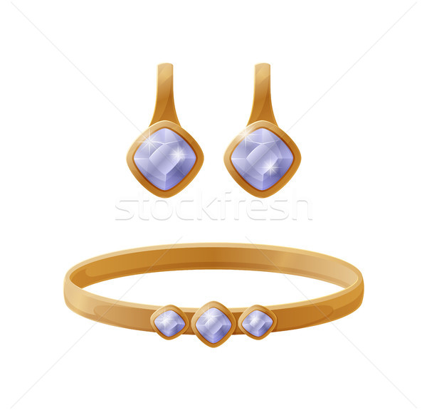 Jewelry Collection Earring Vector Illustration Stock photo © robuart