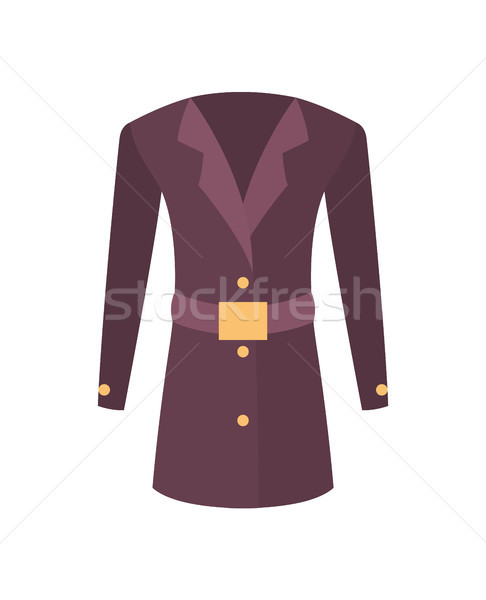 Women Coat with Belt Outer Garment Extend to Hips Stock photo © robuart
