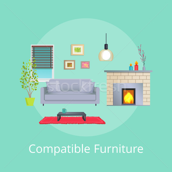 Compatible Furniture in Modern Design Living Room Stock photo © robuart