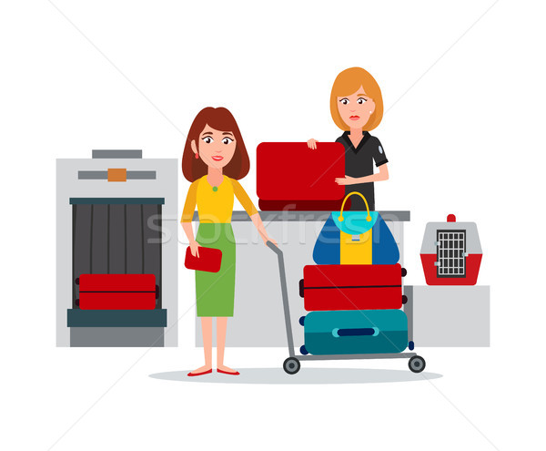 Luggage Control in Airport Vector Illustration Stock photo © robuart