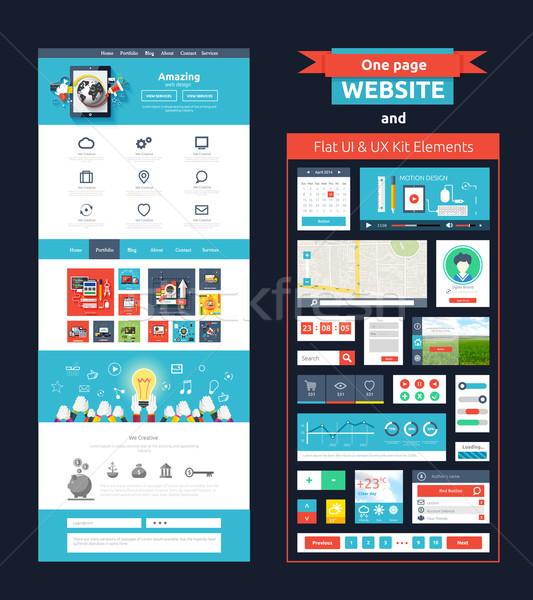 сайт страница шаблон веб-дизайна набор веб Сток-фото © robuart
