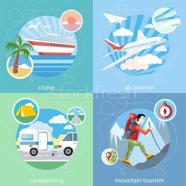 Mountain, cruise, air tourism Stock photo © robuart